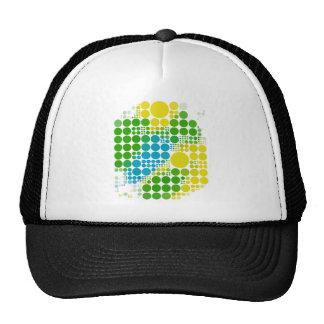 ブラジルカラー 水玉 Brazil color polka dot Trucker Hat