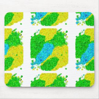 ブラジルカラー 泡模様タイプ Brazil color foam pattern Mouse Pad