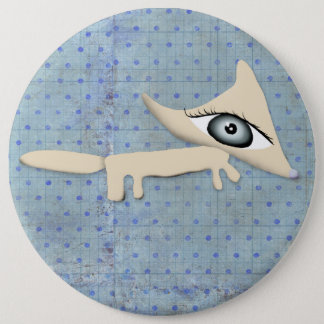 ブローチ Fox 装身具 polka dots blue boy キツネ button