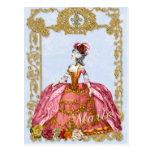 マリーアントワネットのポストカード、ヴェルサイユゴールド絵葉書ブルー ポストカード