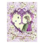 マリーアントワネットのポストカード、LilacDream絵葉書・紫 はがき