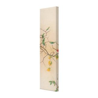 メジロ 速水御舟 Blanco-Ojo japonés Gyoshū arte de Jap Lona Envuelta Para Galerias