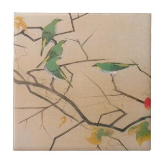 メジロ, 速水御舟, Japanese White-Eye, Gyoshū, Japan Art Tile