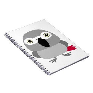 ヨウム オウム パロットAfrican Grey parrot, Paulie Notebook