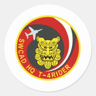 ライダ del 航空自衛隊南西航空団司令部飛行隊 T-4 - パッチ Pegatina Redonda