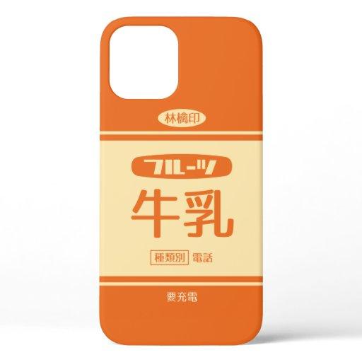 レトロなフルーツ牛乳 iPhone 12 CASE