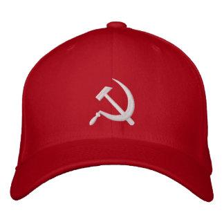 ロシア de la hoz y del martillo de Navidad CCCP Серпи Gorra Bordada