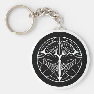 上杉謙信 家紋, Uesugi Kenshin KAMON, Japanese Family Cre Basic Round Button Keychain