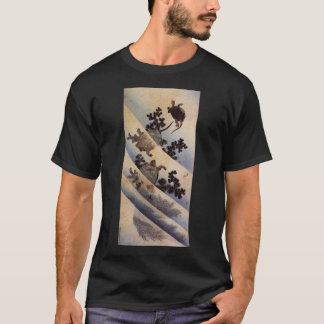 亀, 北斎 Turtles, Hokusai, Ukiyo-e T-Shirt