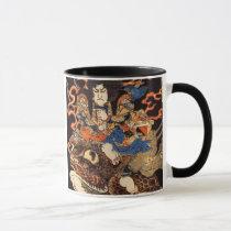 侍と化け蛙, 国芳 Samurai and Giant Frog, Kuniyoshi, Ukiyo Mug