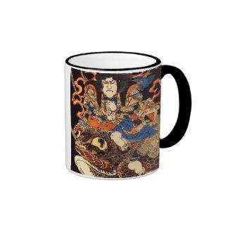 侍と化け蛙, 国芳 Samurai and Giant Frog, Kuniyoshi, Ukiyo Ringer Mug