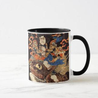 侍と化け蛙, samurai y rana gigante, Kuniyoshi, Ukiyo Taza