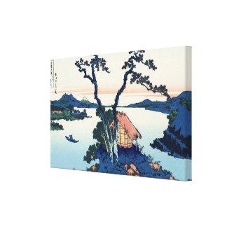 信州諏訪湖 opinión el monte Fuji del 北斎 del lago Suwa