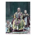 僧 japonés de Japón de los monjes budistas del vint Tarjeta Postal
