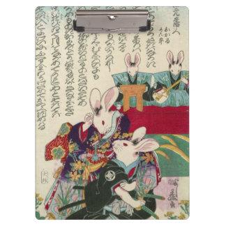 兎の歌舞伎役者, 芳藤 Actors of Rabbit, Yoshifuji, Ukiyo-e Clipboard