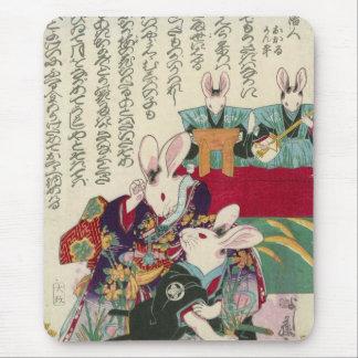 兎の歌舞伎役者, 芳藤 Actors of Rabbit, Yoshifuji, Ukiyo-e Mouse Pad
