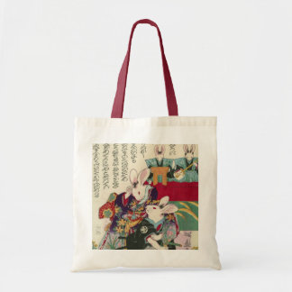 兎の歌舞伎役者, 芳藤 Actors of Rabbit, Yoshifuji, Ukiyo-e Tote Bag