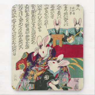 兎の歌舞伎役者, actores del 芳藤 del conejo, Yoshifuji, Uki Tapete De Raton