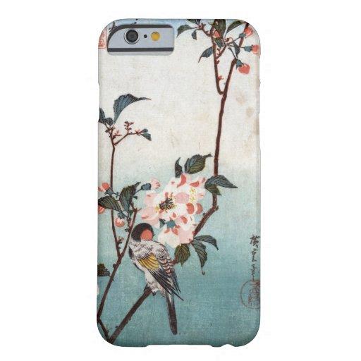 八重桜に鳥, 広重 Cherry Blossom & Bird, Hiroshige, Ukiyoe iPhone 6 Case