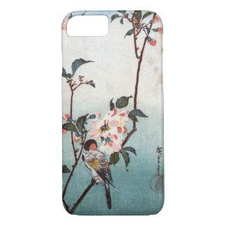 八重桜に鳥, 広重 Cherry Blossom & Bird, Hiroshige, Ukiyoe iPhone 7 Case