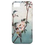 八重桜に鳥, flor de cerezo y pájaro, Hiroshige, Ukiyoe iPhone 5 Carcasa