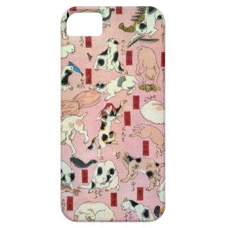 其のまま地口猫飼好五十三疋(上), 国芳 Cats(1), Kuniyoshi, Ukiyo-e iPhone SE/5/5s Case