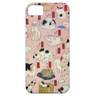 其のまま地口猫飼好五十三疋(中), 国芳 Cats(2), Kuniyoshi, Ukiyo-e iPhone SE/5/5s Case