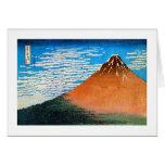 凱風快晴(赤富士), 北斎 Red Mount Fuji, Hokusai, Ukiyo-e Greeting Cards