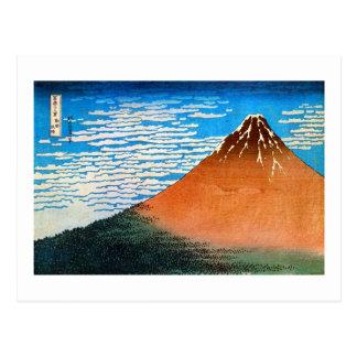 凱風快晴(赤富士), 北斎 Red Mount Fuji, Hokusai, Ukiyo-e Postcards