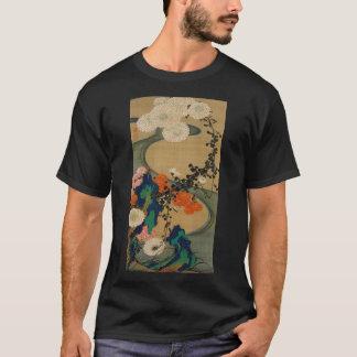 動植綵絵(29)菊花流水図, 伊藤若冲 T-Shirt