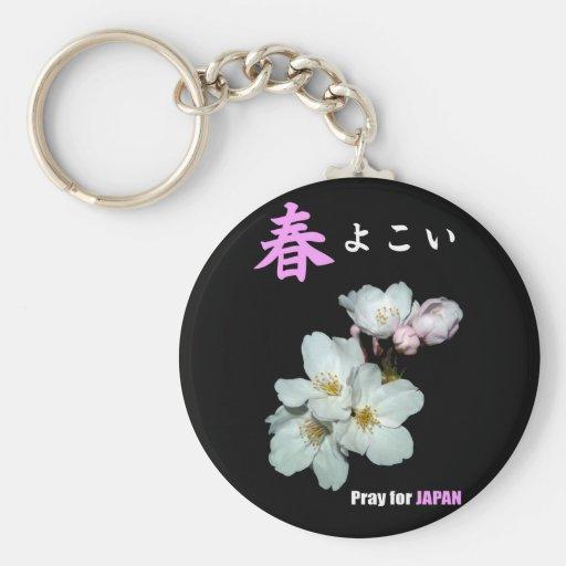 募金用 , Cherry blossoms , 桜 Llavero Redondo Tipo Pin