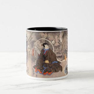 化け猫, 国芳 Apparition of the Monstrous Cat, Kuniyoshi Two-Tone Coffee Mug