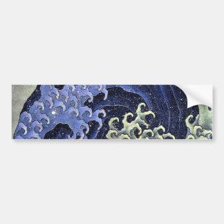 北斎の波, onda de Hokusai del 北斎, Hokusai Pegatina Para Auto