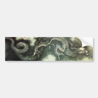 北斎の龍, 北斎 Hokusai Dragon, Hokusai, Art Bumper Sticker