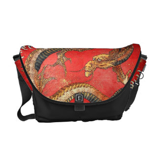北斎の龍, 北斎 Hokusai Dragon, Hokusai, Japan Art Courier Bag