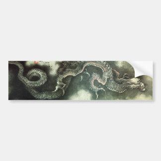 北斎の龍, dragón de Hokusai del 北斎, Hokusai, arte Pegatina De Parachoque