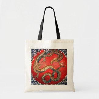 北斎の龍, dragón de Hokusai del 北斎, Hokusai Bolsas De Mano