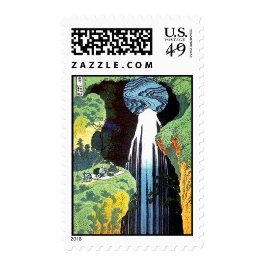 北斎 Hokusai Amida Waterfall Fine Art Postage