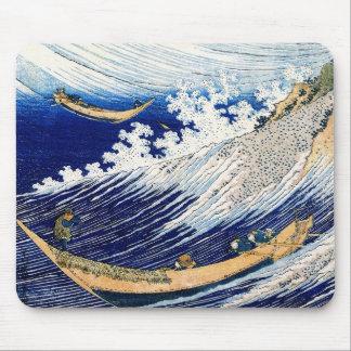 北斎 Hokusai Ocean Waves Japanese Fine Art Mouse Pad