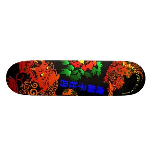 唐獅子牡丹(KARAJISHIBOTAN) スケートボードデッキ