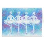 四羽の白鳥の踊りグリーティングカード カード