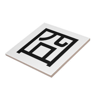囧 Jiong Chinese Orz Asian Meme Hanzi Emoticon Ceramic Tile