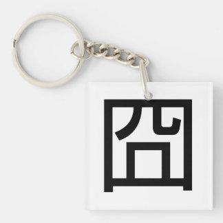 囧 Jiong Chinese Orz Asian Meme Hanzi Emoticon Double-Sided Square Acrylic Keychain