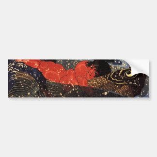 坂田金時と巨鯉, 国芳, Sakata Kintoki & Huge Carp, Kuniyoshi Bumper Sticker
