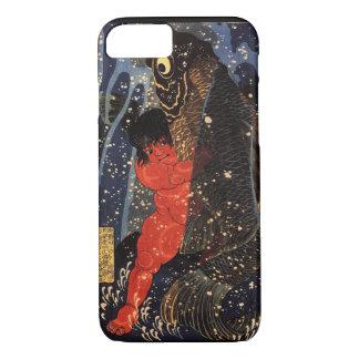 坂田金時と巨鯉, 国芳, Sakata Kintoki & Huge Carp, Kuniyoshi iPhone 8/7 Case