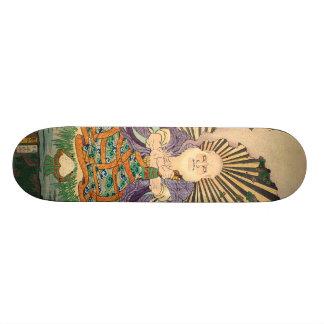 奇術師, 豊国 Magician, Toyokuni, Ukiyo-e Skateboard Deck