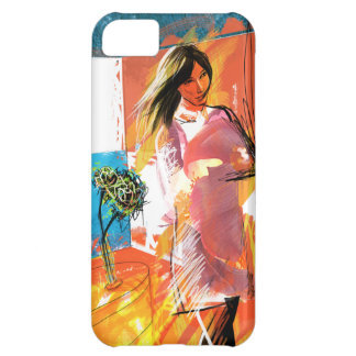女の子(赤と) iPhone 5C COVER
