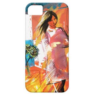 女の子(赤と) iPhone SE/5/5s CASE