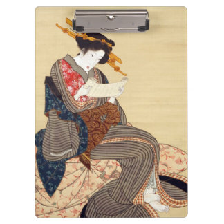女, 国貞 Woman, Kunisada, Ukiyo-e Clipboard