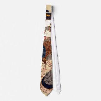 女, 国貞 Woman, Kunisada, Ukiyo-e Neck Tie